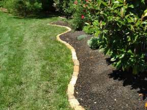 landscape edging ideas borders ortega lawn care
