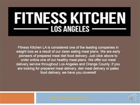 fitnesskichenla meal delivery service to home or office