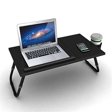 bathtub tray for laptop adjustable laptop tray in black bed bath beyond