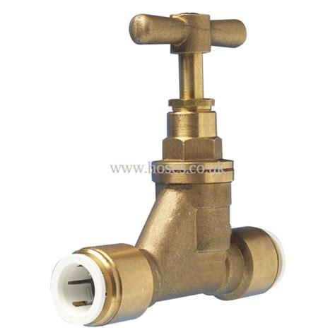 jg speedfit brass stop valve plastic plumbing push in