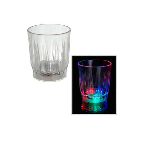 led barware 4 pcs multi color flashing led light up shot glasses drink