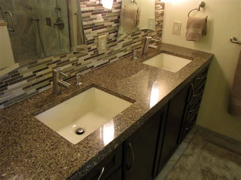 Bathroom Vanity Countertops by Master Bath Remod Vanity Tops And Side Splashes