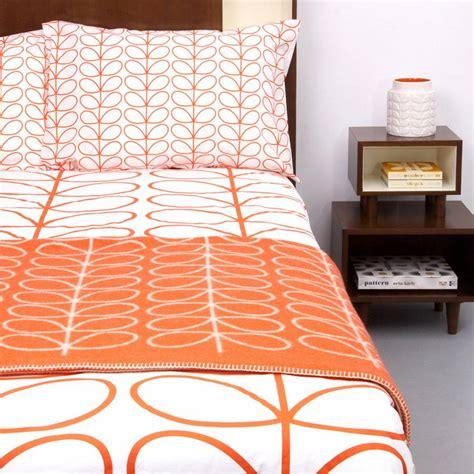 orange linear stem double duvet cover brandalley