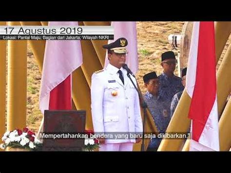 sambutan gubernur provinsi dki jakarta  upacara hut