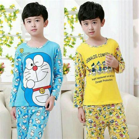 Baju Tidir Doraemon jual baju tidur anak doraemon dab donald duck thatha15