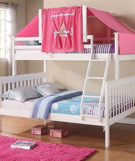 bunk bed tent only white pink mission twin full tent bunk bed bunk bed