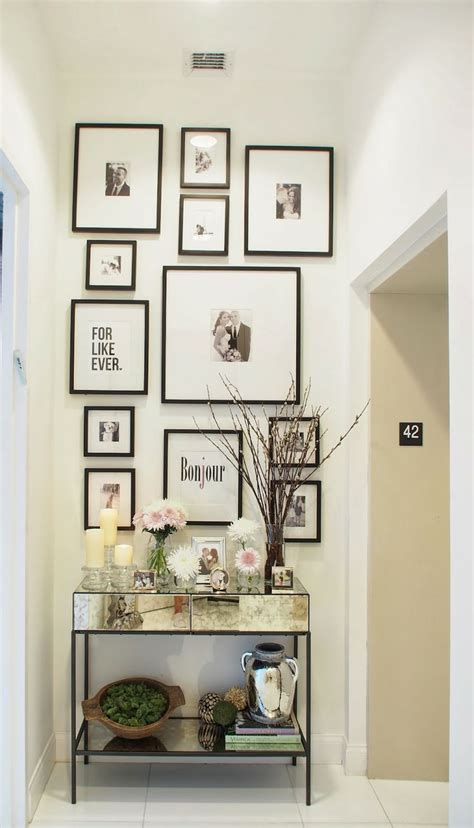 foyer wall decor spring entryway decor gallery wall home pinterest