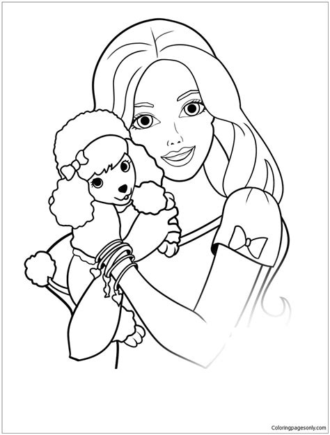 barbie halloween coloring pages coloring pictures of barbie 10223