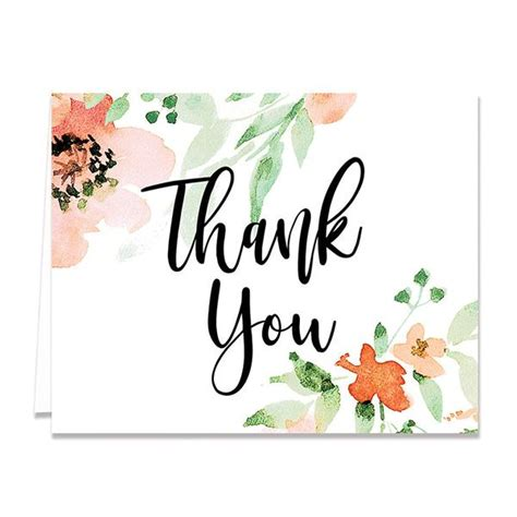 watercolor thank you card template everyday thank you cards digibuddha