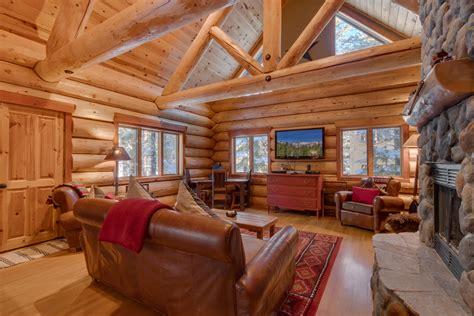 lake tahoe rental log cabin living at tahoe donner