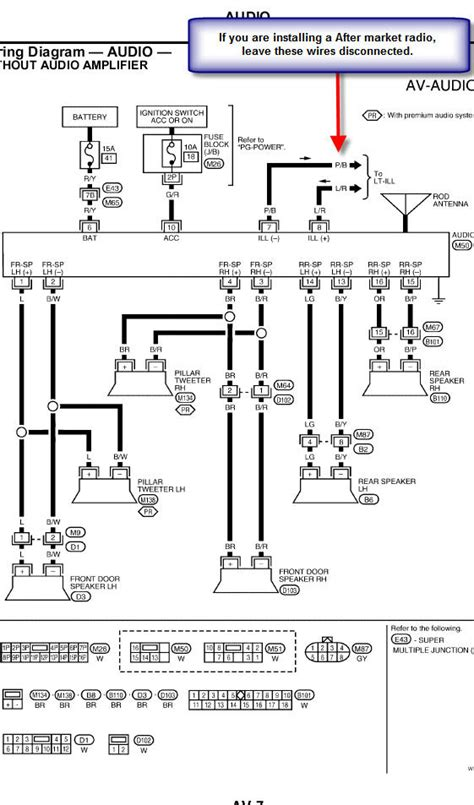 nissan radio wiring harness diagram get free image about