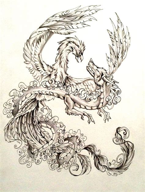 dragon and phoenix tattoo designs and design by lucky978 on deviantart