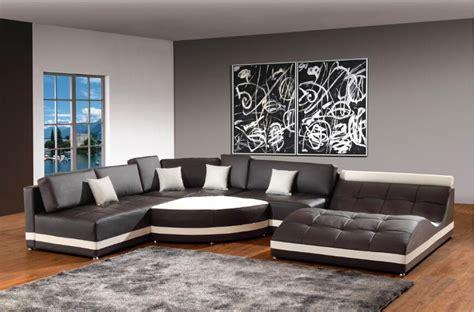 Modern Corner Leather Sofas For Sofa Set Living Room U Shaped Living Room Furniture
