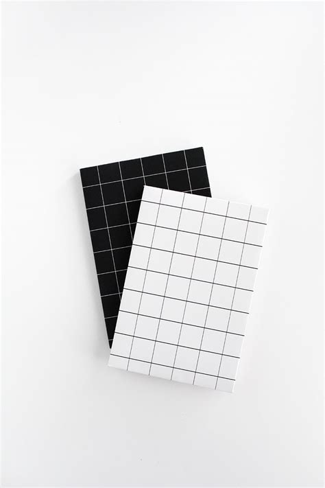 black and white notebook pattern diy grid notebook covers free printable homey oh my
