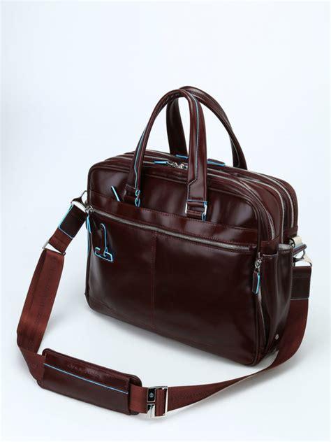borse da ufficio piquadro borsa marrone in pelle spazzolata piquadro borse da