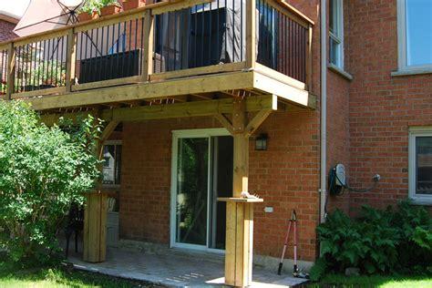 deck with walkout basement designs walkout basement deck and patio ideas crowdbuild for