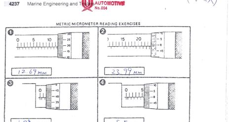Reading A Micrometer Worksheet by Micrometer Reading Practice Worksheets Related Keywords
