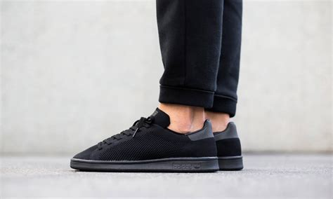 Adidas Stan Smith All Black adidas drops all black adidas stan smith primeknit highsnobiety