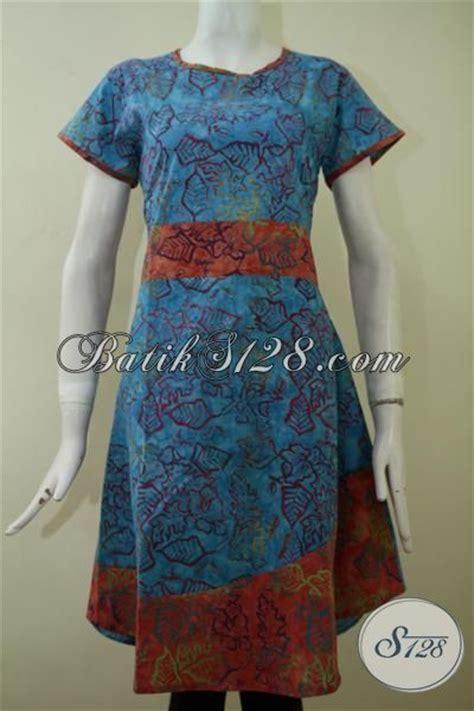 Iqlima Dress M 96 L 98 baju dress batik model lengan pendek dengan desain mewah