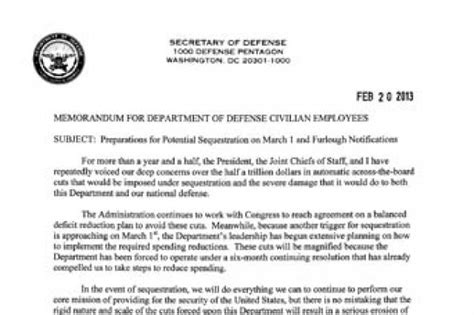 dod memo template dod memo preparations for potential sequestration on
