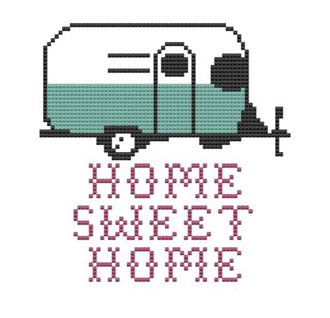 cross stitch pattern home sweet home trailer cer pdf