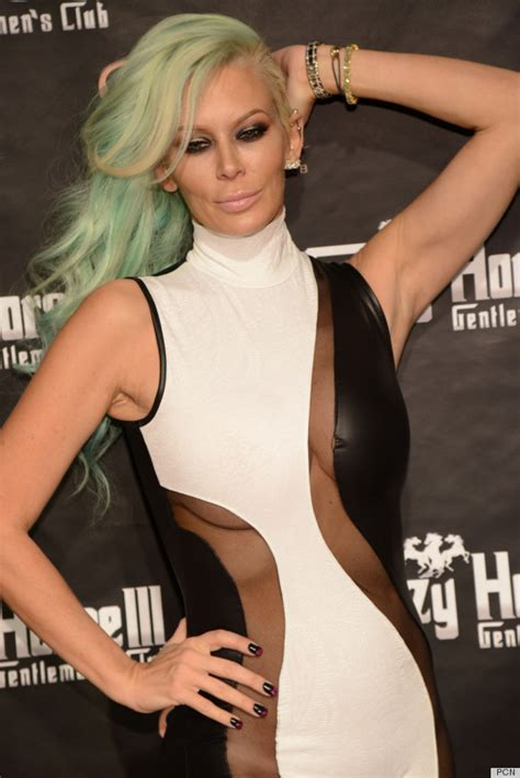 jenna jameson celebrates birthday with sea foam green hair color jenna jameson s jumpsuit is a sight to behold photos