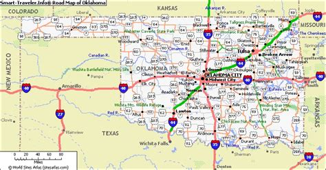 road map of oklahoma and texas coast to coast 2014 oklahoma last stop before route 66 the about cars