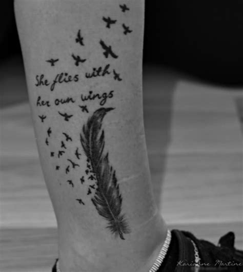 she flies with her own wings tattoo quot she flies with own wings quot tat ideas