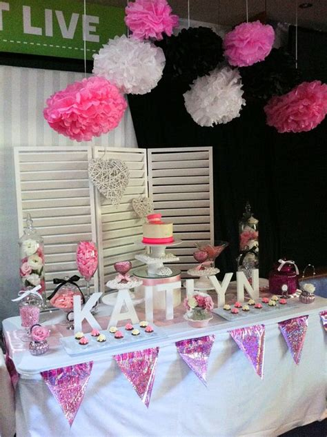 pink and black buffet pink black and white 21st buffet lolly buffet by land buffets www