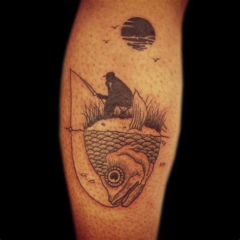 fisherman tattoo by the very lyrical tattoo artist olliet2