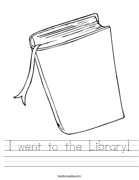 Library Worksheets by I Went To The Library Worksheet Twisty Noodle