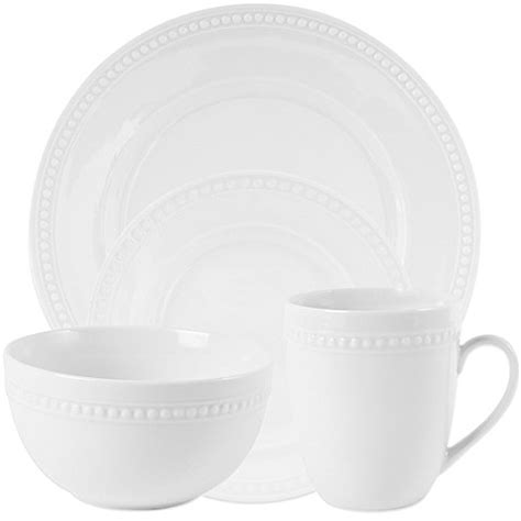 white beaded plates everyday white 174 by fitz and floyd 174 beaded dinnerware bed