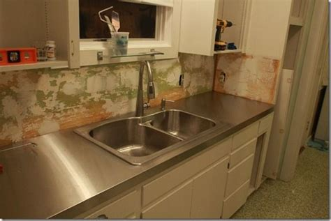 Diy Metal Countertops - created plywood countertop pattern and then took to