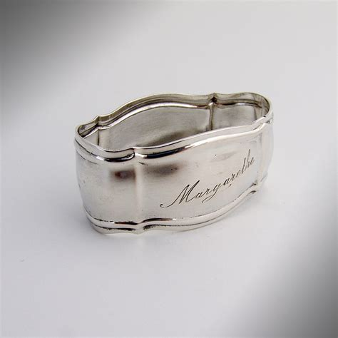 napkin ring 800 silver 1940 from berrycom on ruby