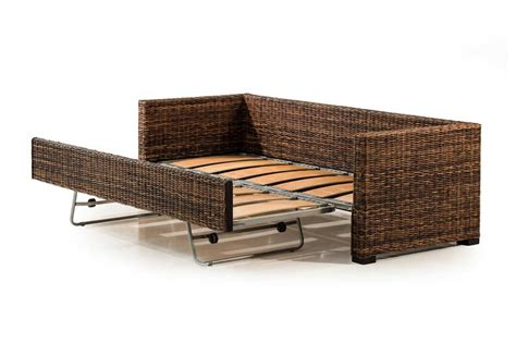 Rattan Sleeper Sofa Wicker Sofa Bed Clic Day Bed Sofa Wicker Material Indoor Furniture The Thesofa