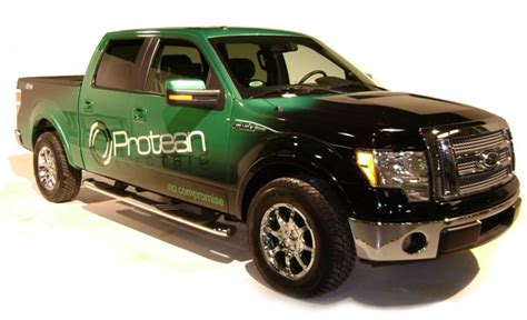 ford electric truck protean ford f 150 all electric truck