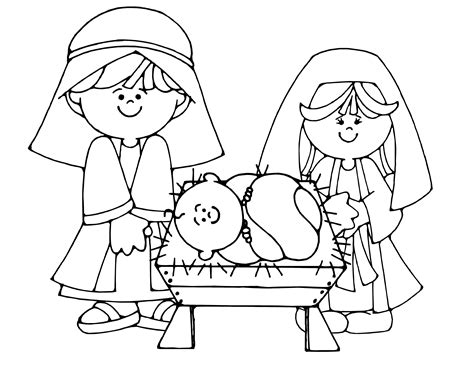 Nativity Color Page nativity coloring pages coloringpagesabc