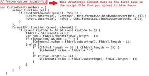 javascript layout exles customizing behavior frevvo 62 confluence