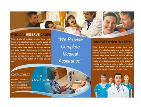 microsoft word medical brochure template office