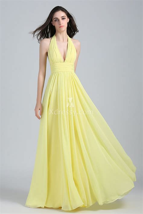new york dress prom dresses evening dresses and blake lively yellow halter plunging bridesmaid prom dress