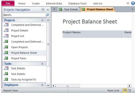 Free Project Management Template For Access Microsoft Access Project Management Template