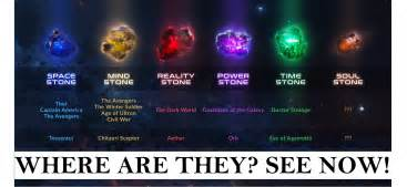 6 Infinity Stones Infinity Stones Where Are They Graystar Media