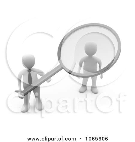 Doing A Background Check Clipart 3d White Businessman Doing A Background Check On An Applicant Royalty Free