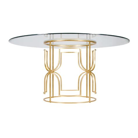 worlds away gold leaf dining table with 54 inch