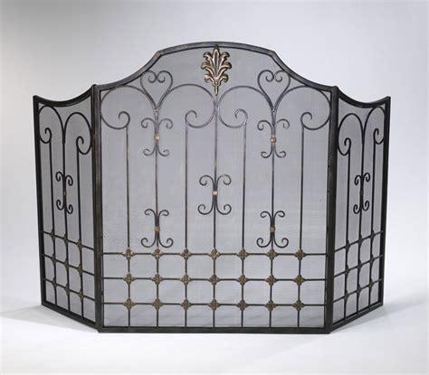 bronze scroll fireplace screen by cyan design