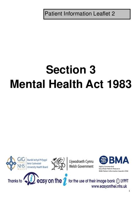 section 5 2 mental health act mha section 3 leaflet 2