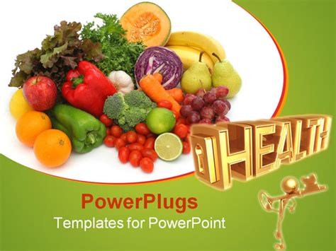 powerpoint templates vegetables colorful fresh group of fruits and vegetables for a