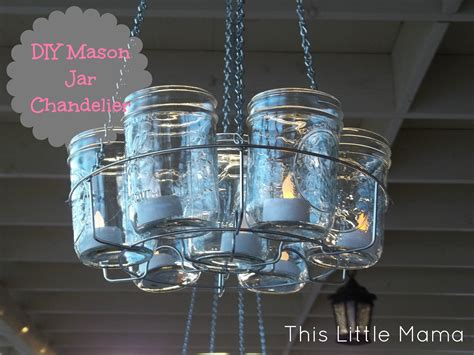 Project Diy Mason Jar Chandelier This Little Mama How To Make A Chandelier With