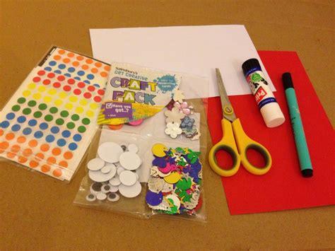 card materials for a card craft materials craft preschooler materials to