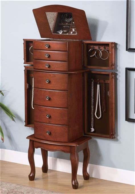 huge jewelry armoire seven drawer large jewelry armoire